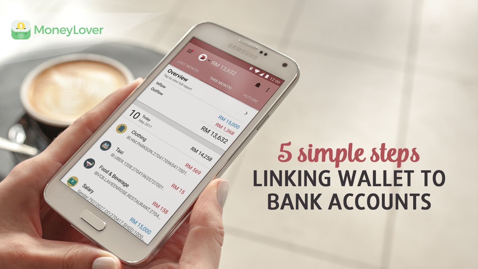 5 easy-and-quick steps to link bank account to Money Lover