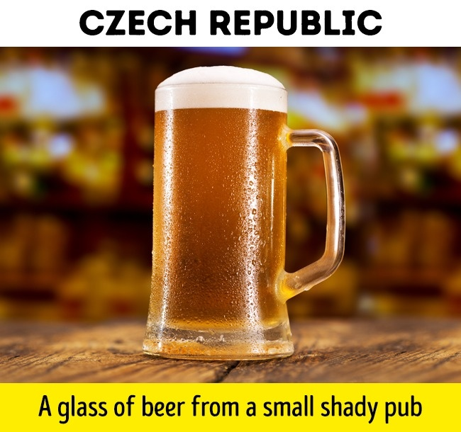get a glass of beer with 1 dollar in Czech